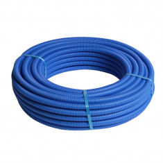 25M Tube multicouche pré-gainé bleu - Ø26x3,0 - Alu 0,5mm - Henco