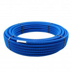 Tube multicouche prégainé bleu - Ø20 x 2 - Alu 0,25mm - 50 mètres - Arcanaute