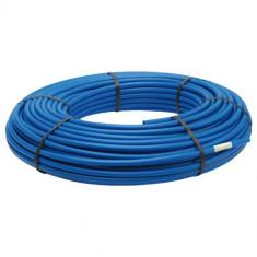 20m Tube PER pré-gainé isolé Bleu Ø12 - Comap