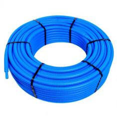 Tube PER pré-gainé Bleu Ø20 x 1,9 - 10 mètres - Blansol Barbi