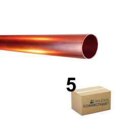 Lot de 5 Tubes cuivre écroui Ø22 - barre de 4m