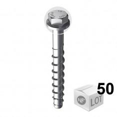 Lot de 50 Vis béton ULTRACUT FBS II Ø10 - Tête hexagonale - Disponible en 8 Longueurs
