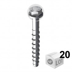 20 Vis béton ULTRACUT FBS II Ø12 - Tête hexagonale - DISPONIBLE en 5 Longueurs
