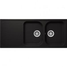 Évier de cuisine Cristalite Scandinave - 1160 x 500 x 205 mm - sous-meuble 80 cm - Coloris Nero - Aquatop
