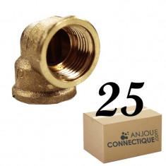 """Lot de 25 Coudes Laiton Femelle 1/2"""" (15/21) - Arcanaute"""