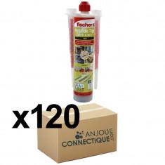 Lot de 120 Cartouches scellement chimique - Ton Gris 300ml