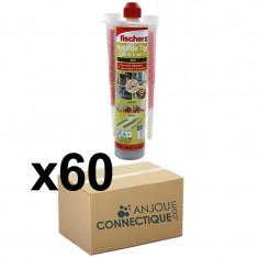 Lot de 60 Cartouches scellement chimique - Ton Gris 300ml