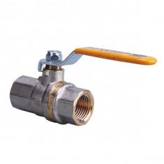 Vanne gaz Femelle/Femelle à tournant sphérique à manivelle