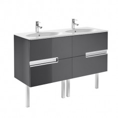 Meuble Unik VICTORIA-N Family oval 1200 4 tiroirs et lavabo double