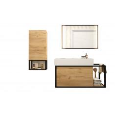 Ensemble de salle de bain - Meuble suspendu, vasque et module VINCI 810 - Salgar