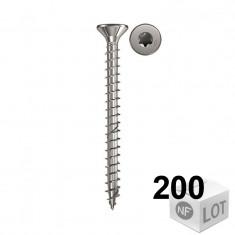 200 Vis bois acier inox Power-Fast TX10 - Ø4,5x30mm ou Ø4,5x35mm
