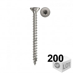 200 Vis bois acier inox Power-Fast TX10 Ø3,5x20mm ou Ø3,5x30mm