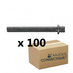 Patte à vis métaux 7x150 - 5x70mm - 100 pièces