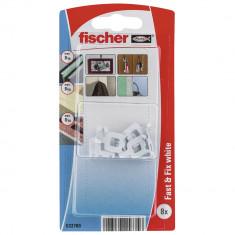 8 Crochets fischer Fast & Fix blanc - Fischer