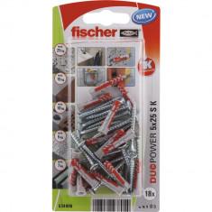 18 Chevilles tous matériaux fischer DUOPOWER Ø5x25 S - Fischer
