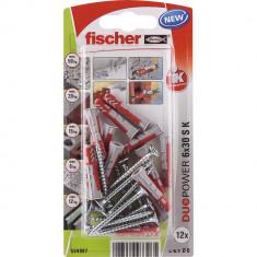 12 Chevilles tous matériaux fischer DUOPOWER Ø6x30 S - Fischer
