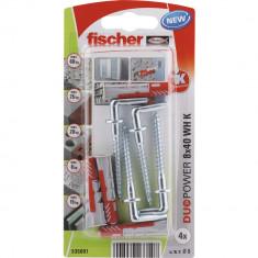 4 Chevilles tous matériaux fischer DUOPOWER Ø8x40 WH - Fischer