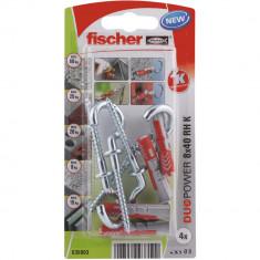 4 Chevilles tous matériaux fischer DUOPOWER Ø8x40 RK - Fischer