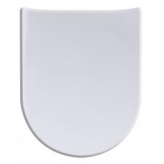 Abattant Wood Slim soft white Mat - descente assistée - déclipsable