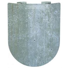 Abattant WC Wood Slim Chicago mat - descente manuelle et déclipsable - Olfa