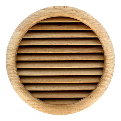 Hetre Bois Exterieur : Grille ventilation ronde bois ? encastrer ? ext?rieur 172mm – ? de