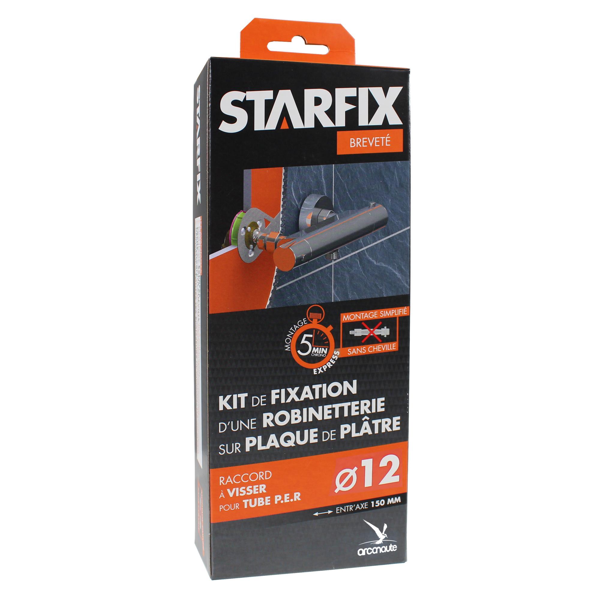 kit de fixation starfix pour robinetterie sur plaque de pl tre. Black Bedroom Furniture Sets. Home Design Ideas