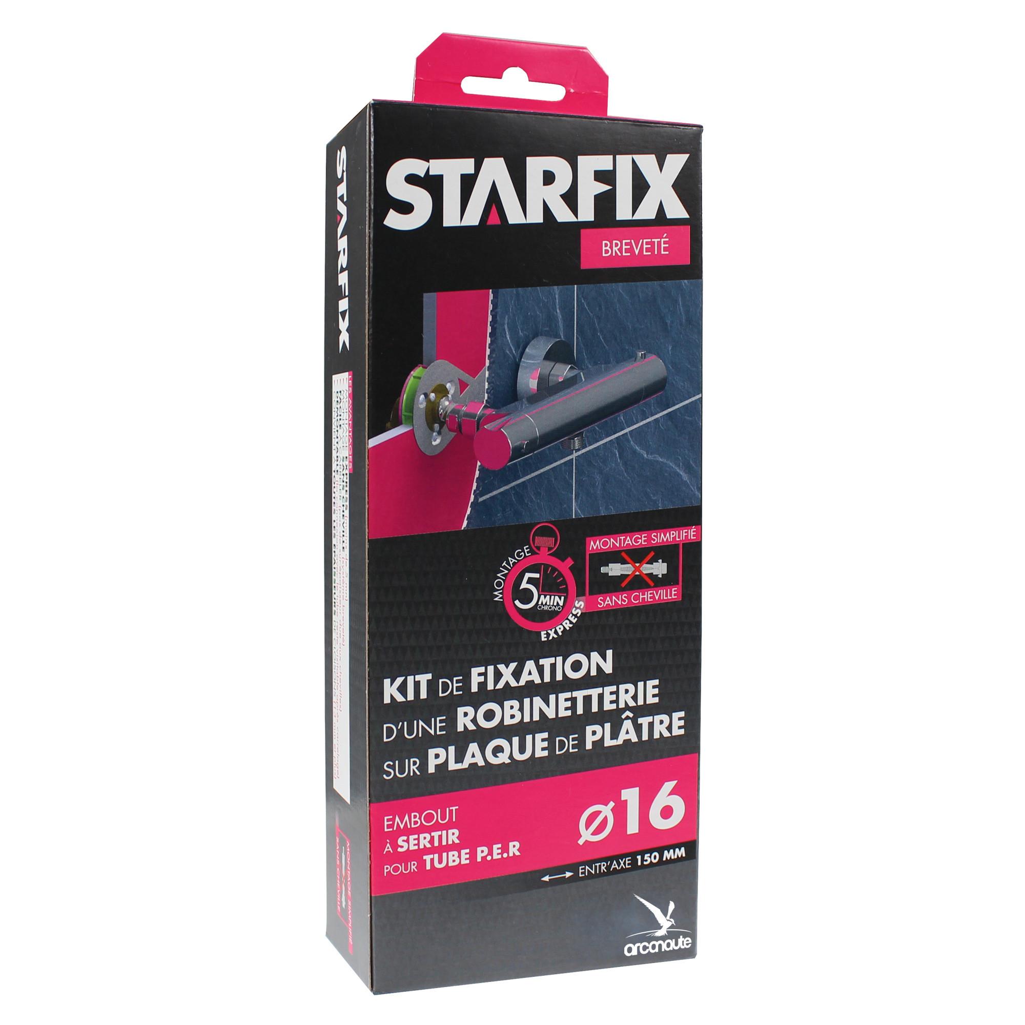 Kit de fixation starfix pour robinetterie sur plaque de pl tre - Kit de douche sans robinetterie ...