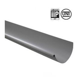 Profile gouttière PVC 25 demi-ronde en 4m - gris