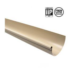 Profile gouttière PVC 25 demi-ronde en 4m - sable