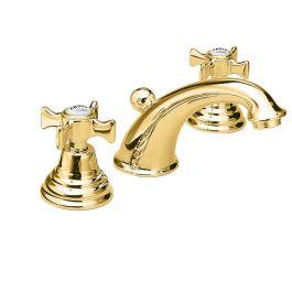 Robinet mélangeur lavabo 3 trous CHAMBORD Doré - Cristina Ondyna CH11352