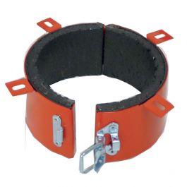 Collier coupe-feu rouge K-FIRE pour tube PVC diamètre 100-110mm