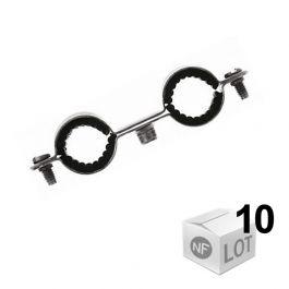 10 Colliers Double Isophonique 7x150 Ø16