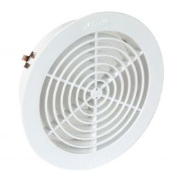 Grille de ventilation ronde avec moustiquaire pour tube Ø160 - Nicoll