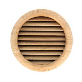 Grille ventilation ronde bois à encastrer Ø extérieur 130mm - Ø de perçage 125mm