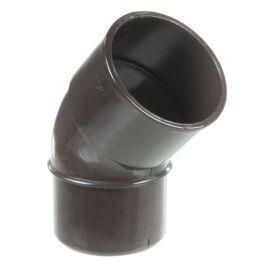 Coude PVC 45° MF pour tube de descente Ø50 - marron