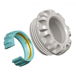 Kit d'adaptation tube PVC Ø40 avec raccord encliquetable - Série 1 - Plasson
