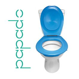Lunette + Abattant WC Clipsable PAPADO Bleu Azur