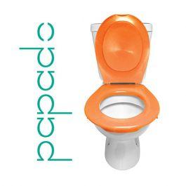 Lunette + Abattant WC Clipsable PAPADO Orange Mandarine