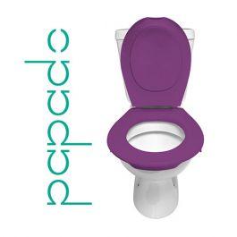 Lunette + Abattant WC Clipsable PAPADO Violet Prune