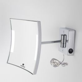 Miroir grossissant à LED Quadrolo bras simple IP23 alimentation direct - Koh-I-Noor C6011KK3