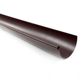 Profile gouttière PVC 25 demi-ronde en 4m - marron