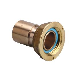Raccord 2 pièces compteur gaz à braser sur cuivre - écrou 25/50 - cuivre Ø54