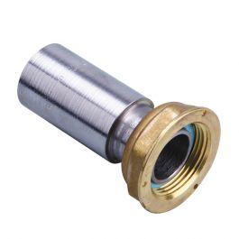 Raccord 2 pièces compteur gaz à souder sur acier - écrou 10/32 - acier Ø42,4