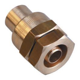 Raccord PE serrage mécanique Ø20 à braser sur tube cuivre Ø18
