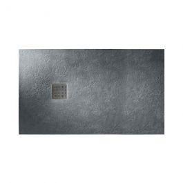 Receveur de douche en résine TERRAN - 1400x900x31mm - Gris ardoise