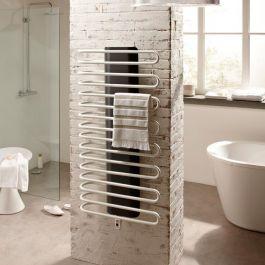 Sèche-serviette eau chaude SANAGA Blanc Réversible 723W