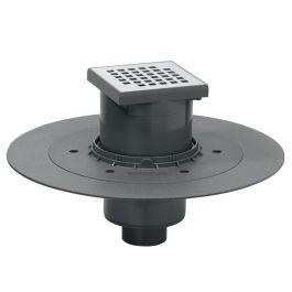Siphon de sol Venisio grille inox pour douche à l'italienne - sortie verticale