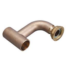 Té coudé 90° à braser sur tube cuivre Ø28 pour conduite montante gaz