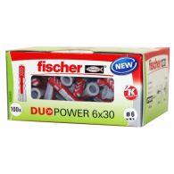 100 Chevilles bi-matière DUOPOWER Ø6 x 30 sans vis - Fischer