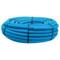 100m Tube PER pré-gainé Bleu